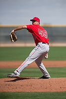 Los Angeles Angels relief pitcher Jason Alexander (59) during a Minor League Spring Training game against the Cincinnati Reds at the Cincinnati Reds Training Complex on March 15, 2018 in Goodyear, Arizona. (Zachary Lucy/Four Seam Images)