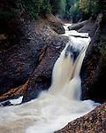 Gorge Falls. Ottawa National Forest, Michigan, August, 1989