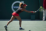 April 5,2018:   Naomi Osaka (JPN) loses to Julia Goerges (GER) 7-6, 6-3, at the Volvo Car Open being played at Family Circle Tennis Center in Charleston, South Carolina.  ©Leslie Billman/Tennisclix/CSM