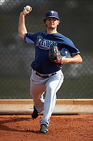 Tampa Bay Rays Burch Smith (56) during a minor league Spring Training intrasquad game on April 1, 2016 at Charlotte Sports Park in Port Charlotte, Florida.  (Mike Janes/Four Seam Images)