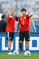 Germany manager Joachim Low organising training