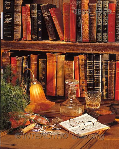 Ron, MASCULIN, photos, old books, whisky(GBSG6929,#M#) Männer, masculino, hombres