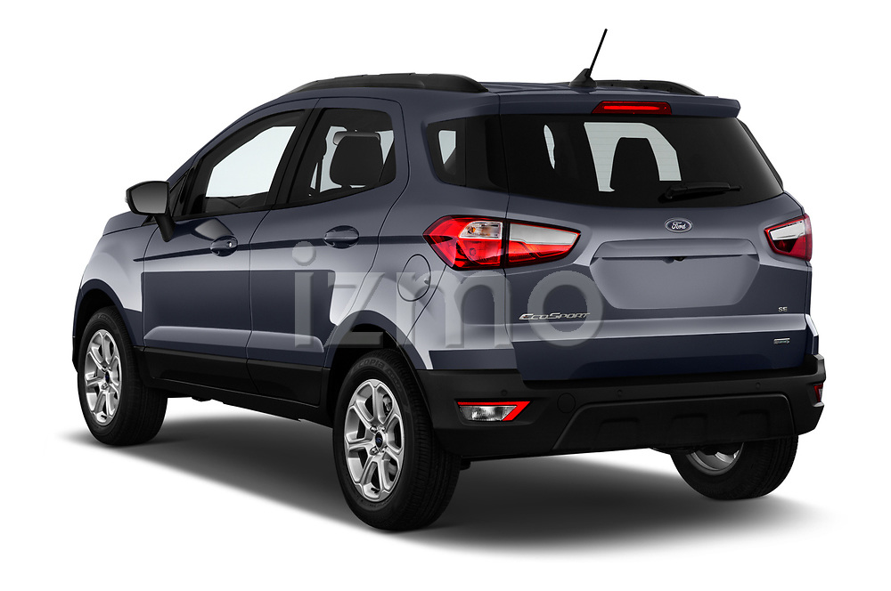 Car pictures of rear three quarter view of a 2018 Ford EcoSport SE 5 Door SUV angular rear