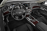 High angle dashboard view of a 2011 Infiniti M37S Sedan