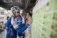 Sign-on for Tom Boonen (BEL/Quick-Step Floors) in his last ever (farewell) race on Belgian soil which starts in his hometown of Mol. <br />  <br /> 105th Scheldeprijs 2017 (1.HC)<br /> 1 Day Race: Mol › Schoten (BEL/202km)