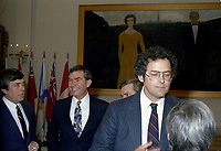 L'Assermentation du cabinet Trudeau a Ottawa,  3 mars 1983. Francis FOx<br /> <br /> PHOTO : Agence Quebec Presse