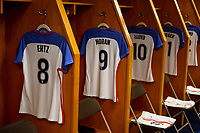 San Diego, CA - Sunday July 30, 2017: USWNT locker room during a 2017 Tournament of Nations match between the women's national teams of the United States (USA) and Brazil (BRA) at Qualcomm Stadium.