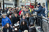 People entering Oxford Circus underground station.