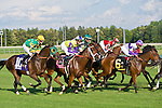 20 June 2009: Battle of Hastings (GB), number 8, goes on to win the Colonial Turf Cup (Gr II) stakes race. Battle of Hastings is ridden by Tyler Baze, owned by M. House and trained by J. Mullins.