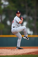 Brevard County Manatees starting pitcher Kodi Medeiros (16) delivers a pitch during a game against the Lakeland Flying Tigers on April 19, 2016 at Henley Field in Lakeland, Florida.  Lakeland defeated Brevard County 9-2.  (Mike Janes/Four Seam Images)
