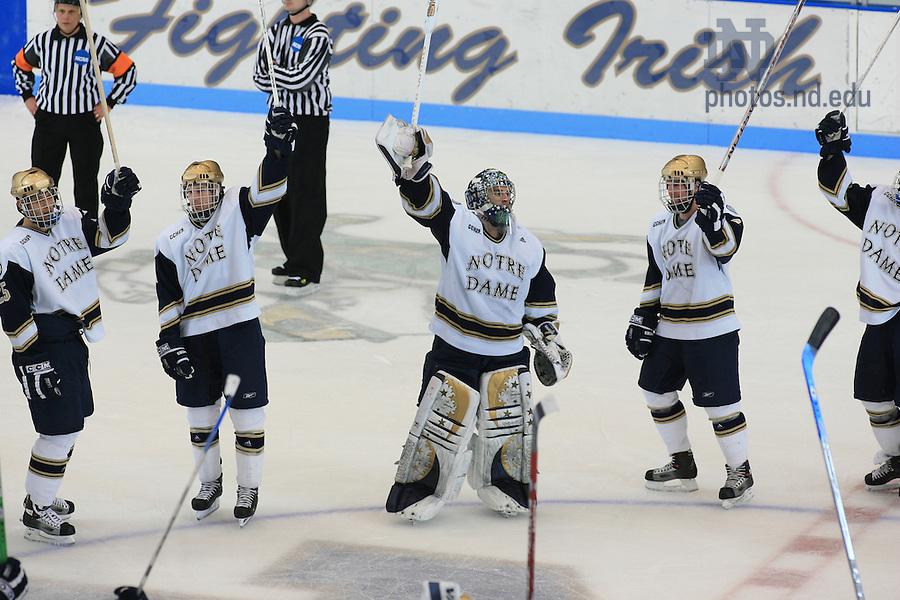 ND Hockey win over Alaska-Fairbanks in the CCHA tournament, 2007.