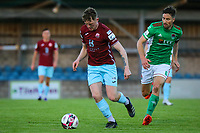 Killian Cooper of Cobh Ramblers with Gearoid Morrissey of Cork City.<br /> <br /> Cobh Ramblers v Cork City, SSE Airtricity League Division 1, 28/5/21, St. Colman's Park, Cobh.<br /> <br /> Copyright Steve Alfred 2021.
