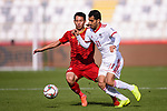 Do Hung Dung of Vietnam (L) competes for the ball with Vahid Amiri of Iran (R) during the AFC Asian Cup UAE 2019 Group D match between Vietnam (VIE) and I.R. Iran (IRN) at Al Nahyan Stadium on 12 January 2019 in Abu Dhabi, United Arab Emirates. Photo by Marcio Rodrigo Machado / Power Sport Images