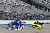 #16: Austin Hill, Hattori Racing Enterprises, Toyota Tundra United Rentals, #83: Tim Viens, CMI Motorsports, Chevrolet Silverado CMI Motorsports, #88: Matt Crafton, ThorSport Racing, Ford F-150 Ideal Door/Menards