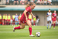 STANFORD, CA - September 3, 2017: Carly Malatskey at Cagan Stadium. Stanford defeated Navy 7-0.