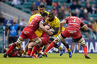 22nd May 2021; Twickenham, London, England; European Rugby Champions Cup Final, La Rochelle versus Toulouse; Dany Priso of La Rochelle is tackled by Richie Arnold of Toulouse