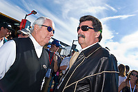 22-25 January, 2009, Daytona Beach, Florida USA.Roger Penske and Mike Helton.©F.Peirce Williams 2009.F.Peirce Williams.photography