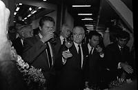 Le 10 Octobre 1987. Vue de Dominique Baudis, Jacques Blanc et Jacques Chaban-Delmas lors d'une réception.<br /> <br /> <br /> Jacques Chaban-Delmas, souvent surnommé « Chaban », né Jacques Delmasa le 7 mars 1915 à Paris 13e et mort le 10 novembre 2000 à Paris 7e, est un résistant, général de brigade et homme d'État français.<br /> <br /> Considéré comme l'un des « barons du gaullisme », il est notamment maire de Bordeaux de 1947 à 1995, ministre sous la IVe République et président de l'Assemblée nationale à trois reprises entre 1958 et 1988.<br /> <br /> Premier ministre de 1969 à 1972, sous la présidence de Georges Pompidou,