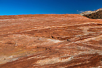 Valley of Fire, Nevada.  The Fire Wave--Striations of Criss-crossing Sandstone.