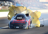 Sep 5, 2020; Clermont, Indiana, United States; NHRA funny car driver Cruz Pedregon during qualifying for the US Nationals at Lucas Oil Raceway. Mandatory Credit: Mark J. Rebilas-USA TODAY Sports