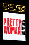 Theatre Marquee for the Garry Marshall Tribute Performance of 'Pretty Woman:The Musical' at the Nederlander Theatre on August 2, 2018 in New York City.