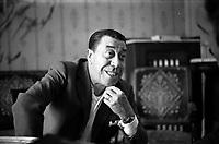 """Fernandelm  Le 14 mars 1970, lors d'une interview à l'occasion de la représentation de la pièce de théâtre """"Freddy"""" au théâtre du capitole."""