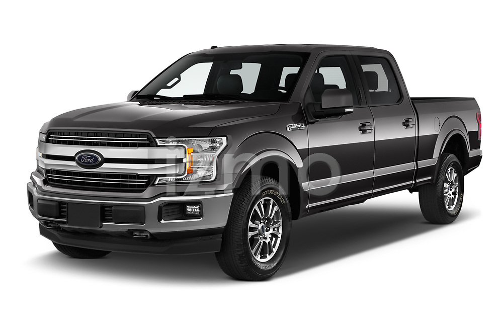 2020 Ford F-150 Lariat 4 Door Pick-up Angular Front automotive stock photos of front three quarter view