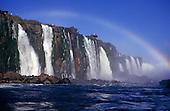 Iguassu, Brazil. The Iguassu falls with rainbow.