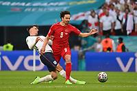 7th July 2021, Wembley Stadium, London, England; 2020 European Football Championships (delayed) semi-final, England versus Denmark;   Mason MOUNT ENG slides in on Thomas DELANEY DEN