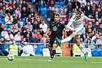 Real Madrid Gareth Bale and Celta de Vigo Jonny Otto during La Liga match between Real Madrid and Celta de Vigo at Santiago Bernabeu Stadium in Madrid, Spain. May 12, 2018. (ALTERPHOTOS/Borja B.Hojas)