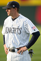 Charlotte Knights catcher Chris Stewart at Knights Stadium in Fort Mill, SC, Thursday, May 4, 2006.
