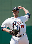 Reno Aces relief pitcher Jason Lane throws against the Tacoma Rainiers in their game played on Monday, May 7, 2012 in Reno, Nevada.