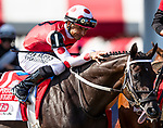 AUG 24: Midnight Bbisou wins the Personal Ensign Stakes with Mike Smith aboard at Saratoga Racecourse in New York on August 24, 2019. Evers/Eclipse Sportswire/CSM