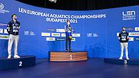 Gold Medal<br /> ROMANCHUKMykhaylo UKR<br /> Silver Medal<br /> PALTRINIERIGregorio ITA<br /> Bronze Medal<br /> ACERENZADomenico ITA<br /> 1500m Freestyle Men <br /> Swimming<br /> Budapest  - Hungary  19/5/2021<br /> Duna Arena<br /> XXXV LEN European Aquatic Championships<br /> Photo Giorgio Scala / Deepbluemedia / Insidefoto
