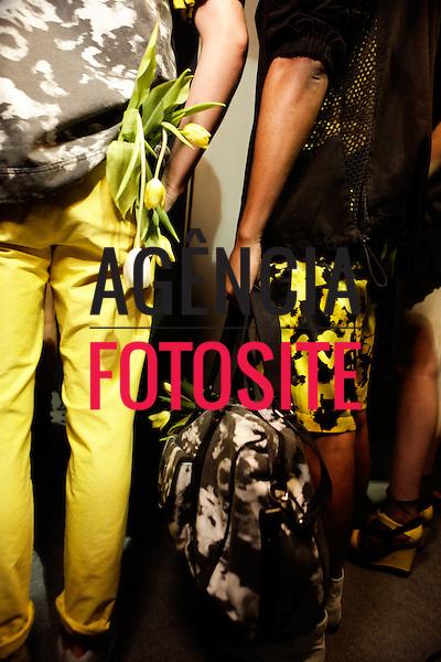 Rio de Janeiro, Brasil – 30/05/2011 - Backstage do  desfile da 2nd Floor durante o Fashion Rio  -  Verão 2012. Foto :  Sergio Caddah / Agência Fotosite