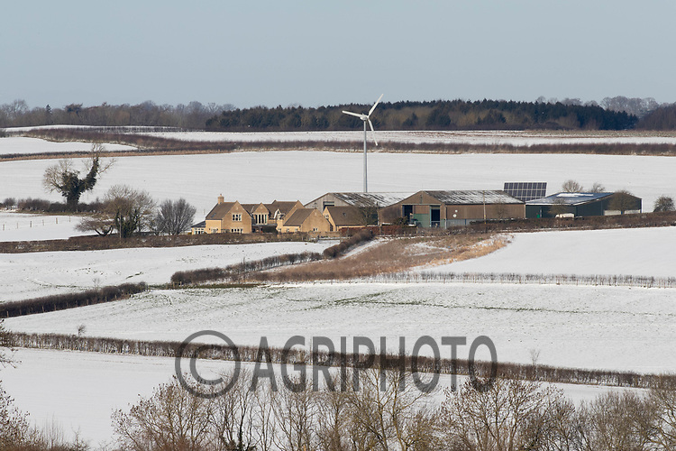 11-2-2021 A Fram surrounded by snow covered fields in Rutland<br /> ©Tim Scrivener Photographer 07850 303986<br />      ....Covering Agriculture In The UK....
