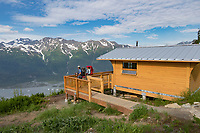 Spencer Bench Cabin in the Chugach National Forest, Kenai Peninsula, Alaska.