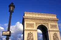 AJ0786, Arc de Triomphe, Paris, France, Europe, The Arc de Triomphe (Triumph) stands majestically above the Place Charles de Gaulle Etoile.