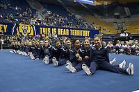 BERKELEY, CA - January 28, 2017: Cal Bears Women's Gymnastics team vs. the Arizona State Sun Devils at Haas Pavilion. Final score, Cal Bears 196.025, Arizona State Sun Devils 193.575.