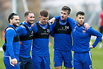 St Johnstone Training…09.11.20<br />Guy Melamed pictured with from left, Craig Conway, Chris Kane, Callum Hendry and Callum Booth during training at McDiarmid Park ahead of tomorrow night's Betfred Cup game against Dundee United.<br />Picture by Graeme Hart.<br />Copyright Perthshire Picture Agency<br />Tel: 01738 623350  Mobile: 07990 594431