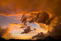 Thunderstorm cloud sunset, Fredericksburg Texas