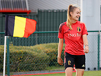 20201021 - TUBIZE , Belgium : Tessa Wullaert pictured during a training session of the Belgian Women's National Team, Red Flames , on the 21st of October 2020 at Proximus Basecamp in Tubize. PHOTO: SPORTPIX.BE | SPP | SEVIL OKTEM
