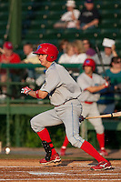 May 6 2010: Korby Mintken (6) of the Clearwater Threshers during a game vs. the Daytona Cubs at Jackie Robinson Ballpark in Daytona Beach, Florida. Clearwater, the Florida State League High-A affiliate of the Philadelphia Phillies, won the game against Daytona, affiliate of the Chicago Cubs, by the score of 4-1.  Photo By Scott Jontes/Four Seam Images