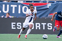 FOXBOROUGH, MA - JULY 4: Andrew Booth #19 of Greenville Triumph SC during a game between Greenville Triumph SC and New England Revolution II at Gillette Stadium on July 4, 2021 in Foxborough, Massachusetts.