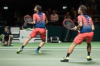 ABN AMRO World Tennis Tournament, Rotterdam, The Netherlands, 19 Februari, 2017, Wesley Koolhof (NED), Matwe Middelkoop (NED)<br /> Photo: Henk Koster