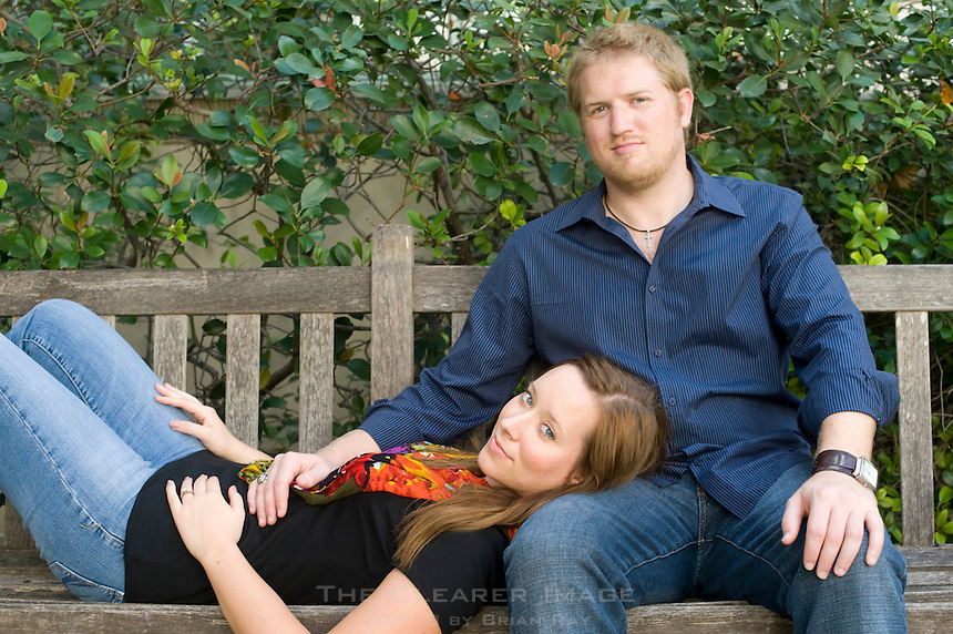 Engagement portraits of Chad Little and Lauren Winterfeld in Austin, TX on Sunday, October 23, 2011.