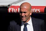 Real Madrid's coach Zinedine Zidane during the match of La Liga between Real Madrid and SD Eibar at Santiago Bernabeu Stadium in Madrid. October 02, 2016. (ALTERPHOTOS/Rodrigo Jimenez)