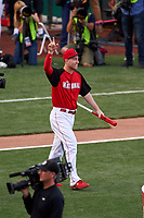 Cincinnati Reds Todd Frazier is introduced before the MLB Home Run Derby on July 13, 2015 at Great American Ball Park in Cincinnati, Ohio.  (Mike Janes/Four Seam Images)