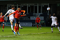 4th May 2021; Kenilworth Road, Luton, Bedfordshire, England; English Football League Championship Football, Luton Town versus Rotherham United; Matt Crooks of Rotherham United header goes just wide