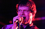 Electric Six playing at Sin City nightclub in Swansea last night..Pictured is lead singer Dick Valentine...